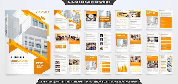 Biznes bifold broszura edytowalny szablon układu wektor premium