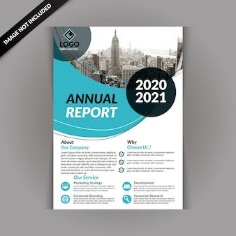 Biznes broszura szablon z niebieskim kolorem
