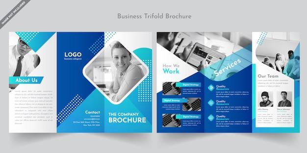 Biznes broszura trifold szablon