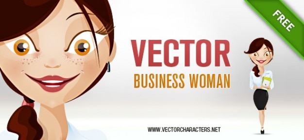Biznes charakter, kobieta, vector