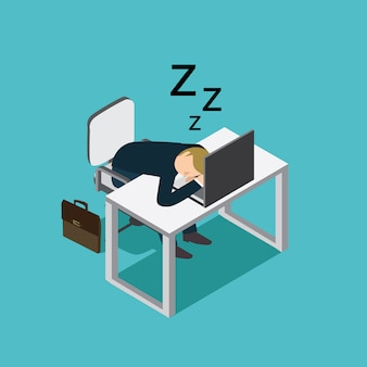 Biznes człowiek śpi