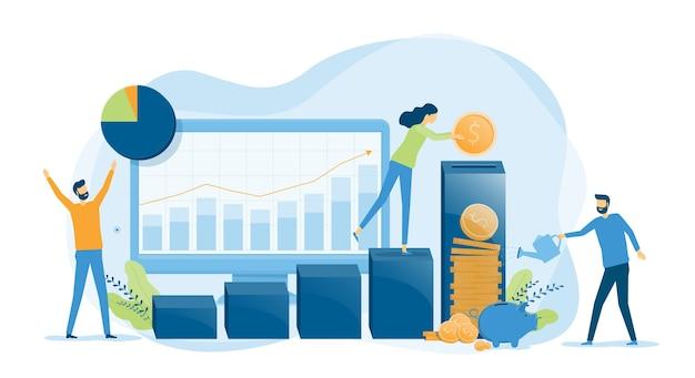 Biznes finanse koncepcja inwestycji i oszczędności