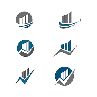 Biznes finanse logo szablon wektor ikona designu