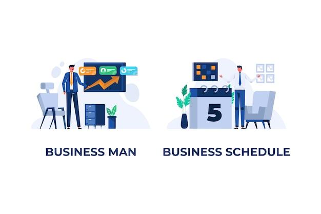 Biznes i inwestycje płaskie ilustracja