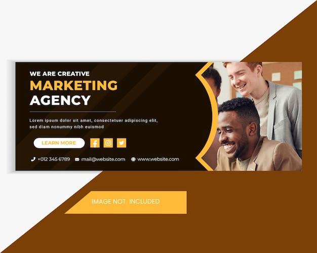 Biznes i marketing cyfrowy sprzedaż szablon banera internetowego. poziomy baner internetowy szablon reklamowy. marketingowy baner nagłówka w mediach społecznościowych i reklama na stronie internetowej