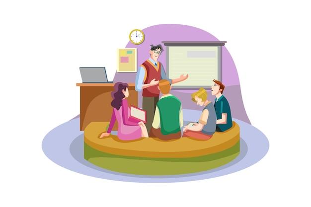 Biznes ilustracja koncepcja coachingu