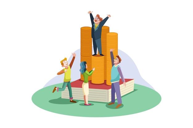 Biznes ilustracja koncepcja sukcesu