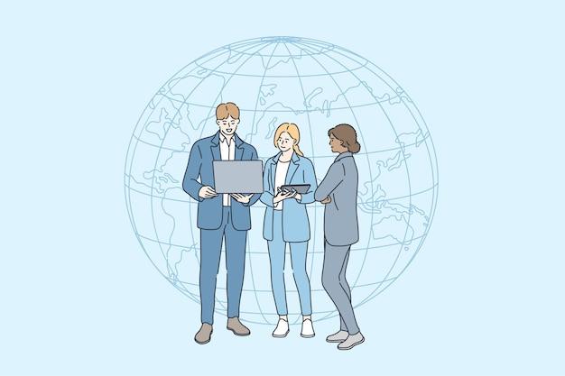 Biznes ilustracja połączenia internetowego
