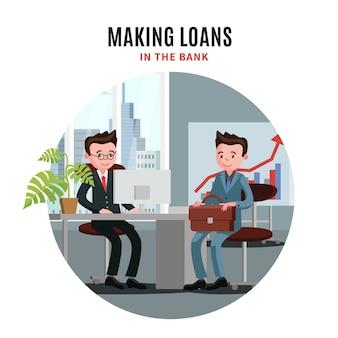 Biznes ilustracja pożyczki