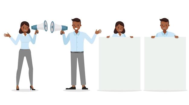 Biznes ilustracja pracownik ludzie