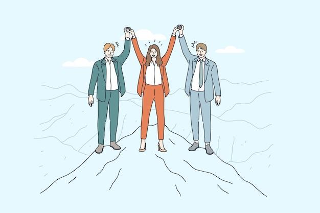 Biznes ilustracja zespołu.