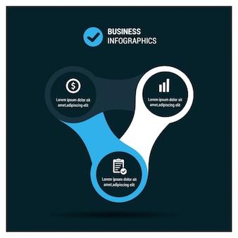Biznes infograficzna szablon
