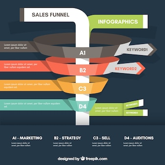 Biznes infografika szablon z kolorowych fazach