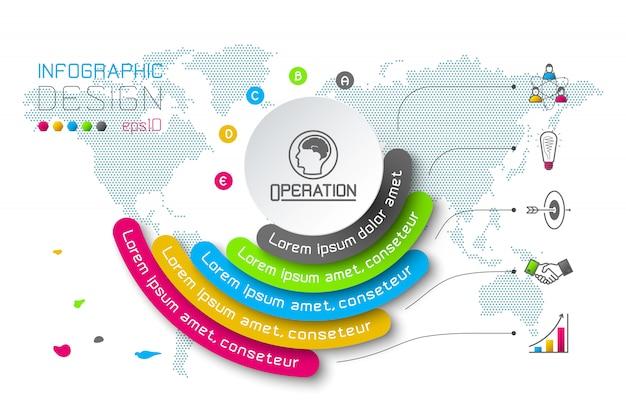 Biznes infografiki koło origami