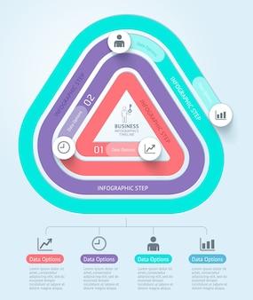 Biznes infografiki osi czasu szablon tło