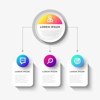 Biznes infopgraphic z schematem organizacyjnym