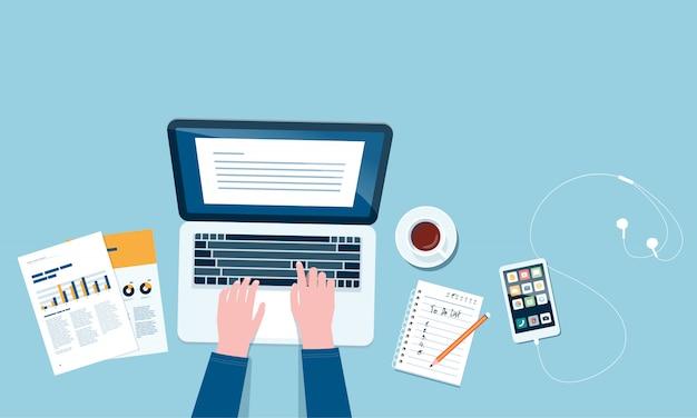 Biznes inteligentna praca online łączenie koncepcji wszędzie