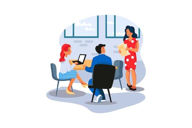 Biznes kobieta będzie na spotkanie biznesowe