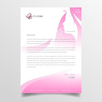 Biznes kobieta papier firmowy