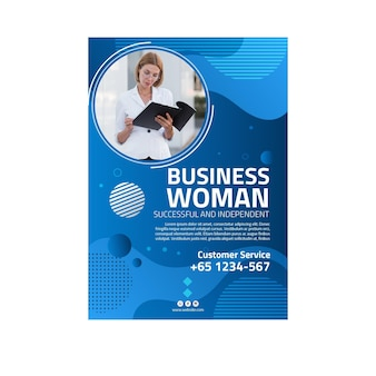 Biznes kobieta plakat szablon