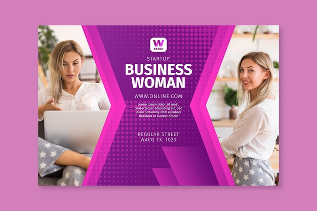 Biznes kobieta szablon transparent