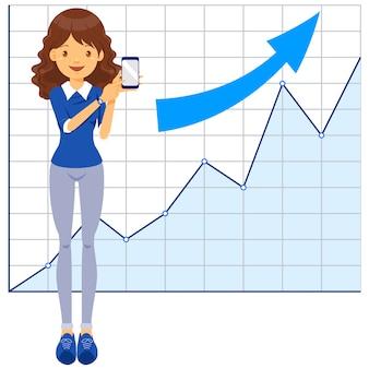 Biznes kobieta, trener, nauczyciel, komunikacja