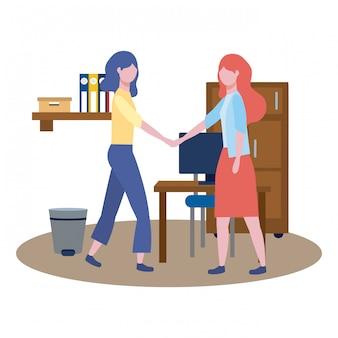 Biznes kobiety avatar kreskówek