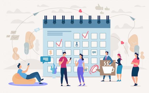 Biznes Koncepcja Zarządzania Czasem Zespołu Premium Wektorów