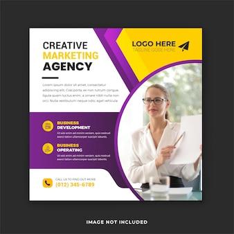 Biznes korporacyjny marketing cyfrowy post w mediach społecznościowych i szablon banera internetowego