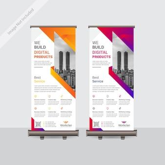 Biznes korporacyjny projekt szablonu transparent roll up lub standee kolorowy