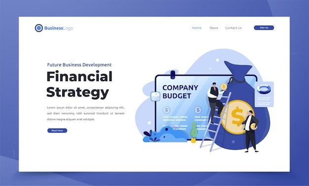 Biznes korporacyjny strategii finansowej na stronie docelowej