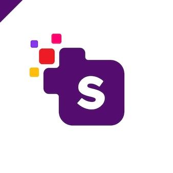 Biznes korporacyjnych kwadratowych literę s projektowanie logo czcionki