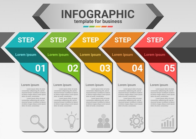 Biznes kroki do sukcesu infographic dane.
