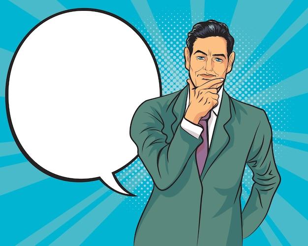 Biznes ludzie myślący biznes ilustracja