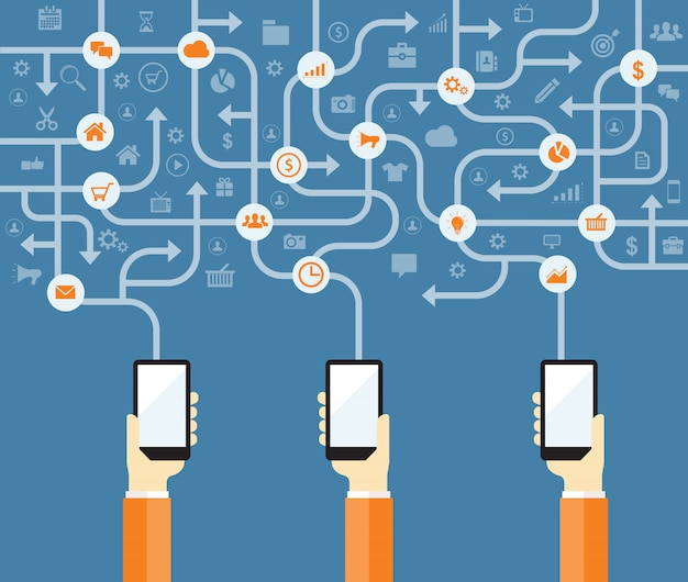 Biznes marketing online połączyć koncepcja