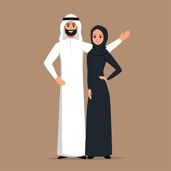 Biznes muzułmanie w tradycyjnych strojach