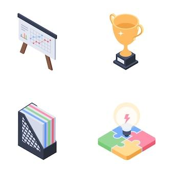 Biznes, pakiet ikon badań rynku