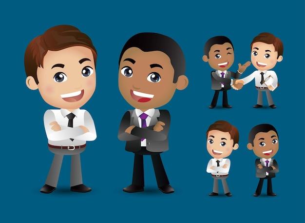 Biznes para razem i uścisnąć dłoń ilustracja
