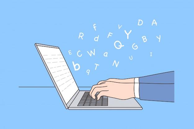 Biznes, praca, edukacja, sieć, dziennikarstwo, koncepcja raportu