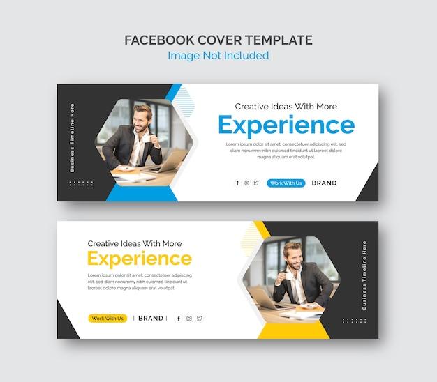 Biznes promocyjny szablon zatoczki na facebooku