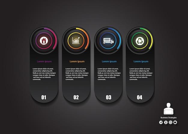 Biznes przycisk blask infografiki