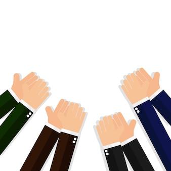 Biznes rąk klaskanie