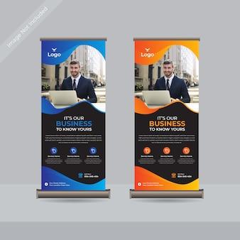 Biznes roll up standardowy szablon transparentu premium