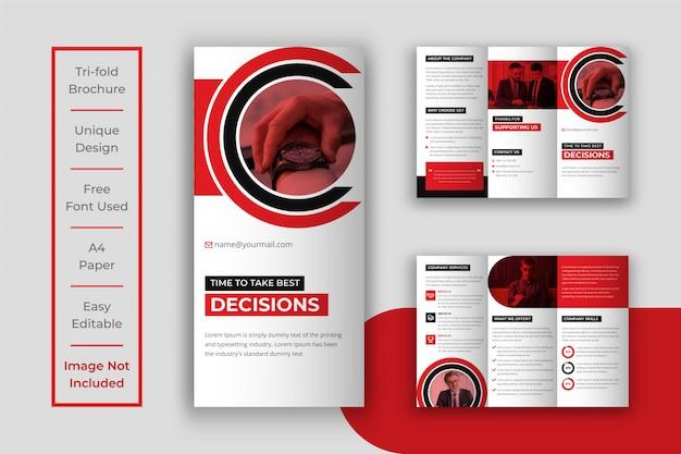 Biznes składanej broszury szablon projektu