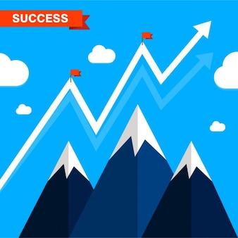 Biznes sukces ilustracji prezentacja