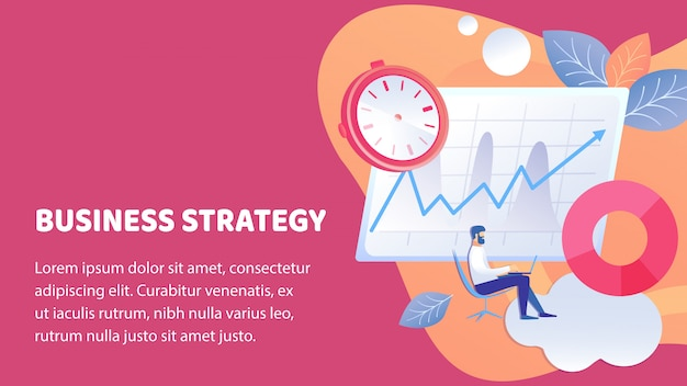Biznes sukces strategii plakat wektor szablon