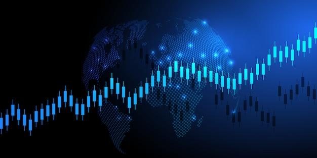 Biznes świeca kij wykres wykres handlu inwestycjami na giełdzie