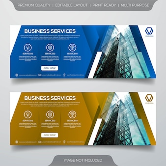 Biznes transparent szablon wektor premium