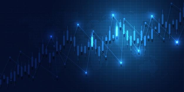 Biznes wykres świeca trzymać wykres