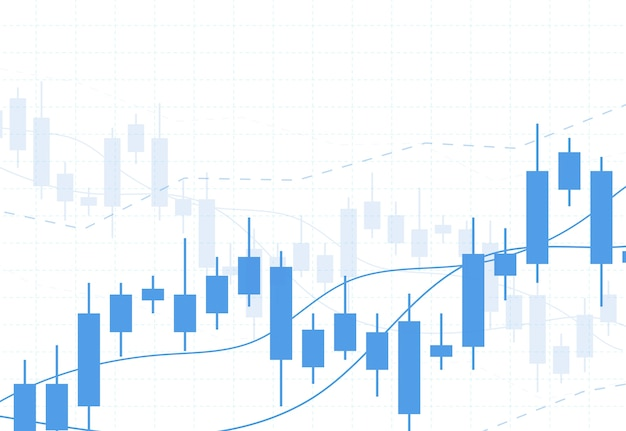 Biznes wykres świeca wykres słupkowy